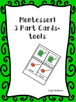 Montessori 3 part cards - tools