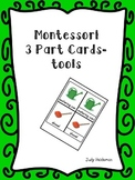 Montessori 3 part cards - tools