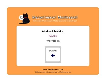 Montessori Abstract Division Workbook