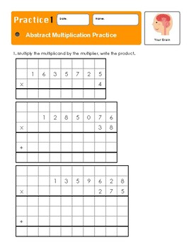 Montessori Abstract Multiplication Workbook