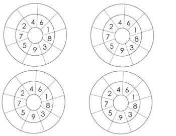 Montessori Addition Circle Problems