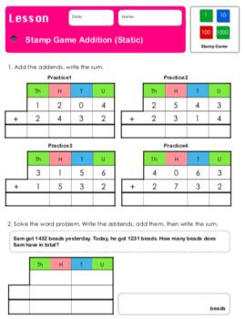 Montessori Addition Operation Workbooks Bundle