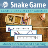 Montessori Addition Snake Game Bundle with Booklets and Cards for Facts Practice