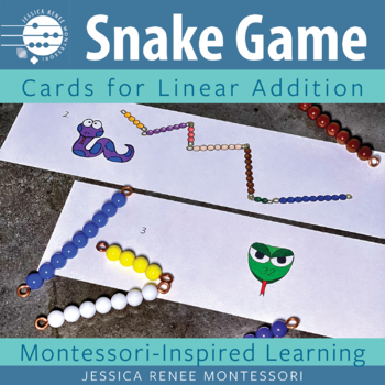Montessori Addition Snake Game Cards (Bead Stair Version)