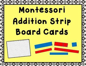 Montessori Addition Strip Board Cards