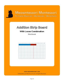 Montessori Addition Strip Board with Loose Combinations Workbook