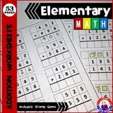 Montessori Addition Worksheets