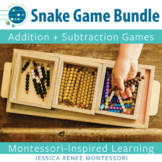 Addition and Subtraction Facts Practice with the Montessori Snake Game
