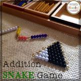 Montessori Addtion Snake Game - Positive Snake Game