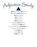 Montessori Adjective Study Sentences to Read Aloud