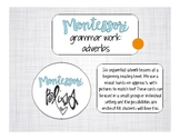 Montessori Adverbs Work