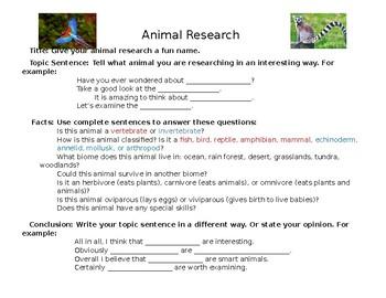 Montessori Animal Research Guide