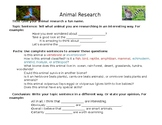 Montessori Animal Research Guide
