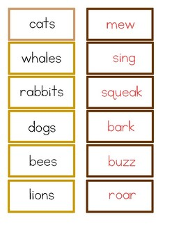 Montessori Animals & Their Sounds Traditional