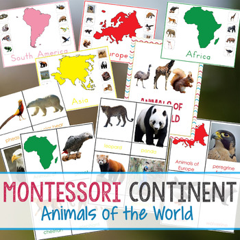 Montessori Animals and Continents Unit