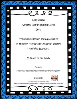 Montessori Aquatic Life 3-Part Cards Set 1