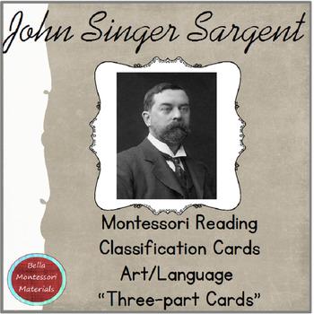 Montessori Art 3- Part Cards - John Singer Sargent