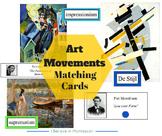 Montessori Art Movements Matching Cards