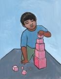 Montessori Art- The Pink Tower