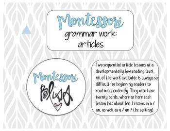 Montessori Articles Work