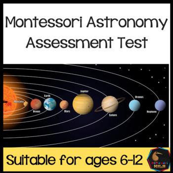 Montessori Astronomy  test for assessment