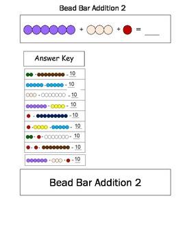 Montessori Bead Bar Addition Sums of Ten
