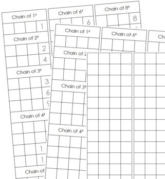 Bead Chain Notation Paper - Montessori