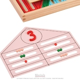 Montessori Bead Houses Workbook