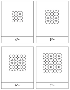 Montessori Bead Squares