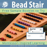 Montessori Math Bead Stair Booklet Free Sample