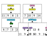 Montessori Bead Stairs Addition Clip Cards (Editable)