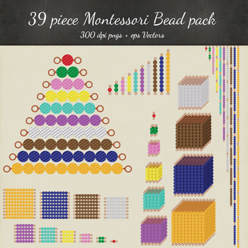Montessori Beads Clipart Vector & Printables