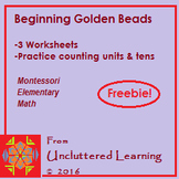 Freebie! Montessori Beginning Golden Beads