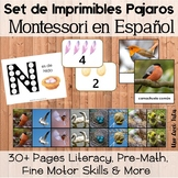 Montessori Bird Printable Bundle For Toddlers And Preschoolers In Spanish