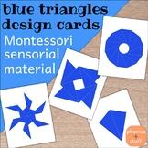 Montessori Blue Constructive Triangles Design Cards