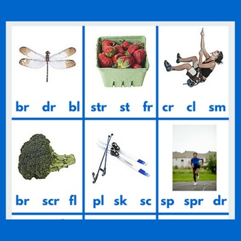 Montessori Blue Level Blends & Image Punch Cards