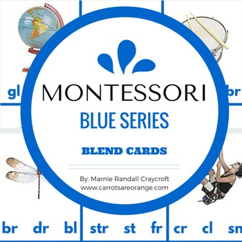 Montessori Blue Level Blends & Image Punch Cards
