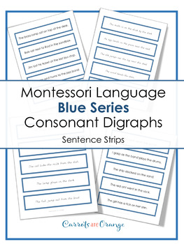 Montessori Language - Blue Level Sentence Strips