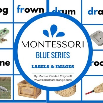 Montessori Blue Level Word Labels & Image Cards