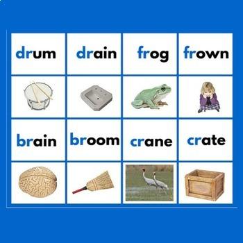 Montessori Blue Level Word Labels & Image Cards
