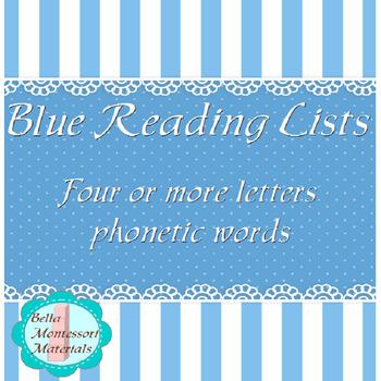 Montessori Blue Reading List
