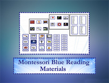 Montessori  Blue Reading Materials