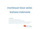 Montessori Blue Series Bahasa Indonesia