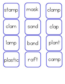 Montessori Blue Series Picture and Word Cards