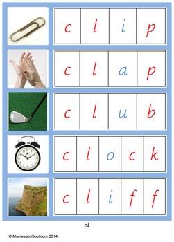 Montessori Blue language materials