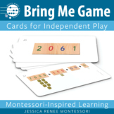 Montessori Math Place Value Game for Making Quantities with the Golden Beads
