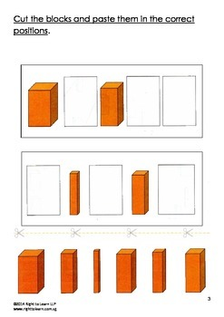 Montessori Brown Stairs Worksheets