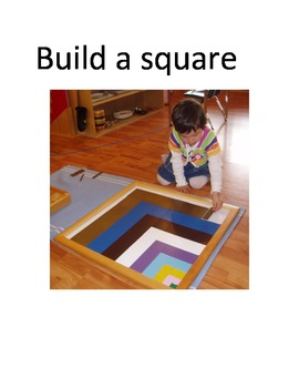 Montessori Build a square