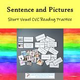 Montessori CVC Sentence and Picture Matching Reading Activity