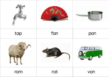 Montessori CVC words with 'a'